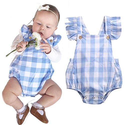 Trachten Baby Strampler, Gr. 70, 4-6 Monate, blau/weiß kariert, 100% Baumwolle, Mädchen/Jungen Dirndl, extrem süß, Tracht, Body , blau 70