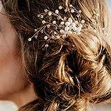 Simsly Mariage Peignes diapositives Fleur de mariage Accessoires Cheveux pour mariée et Demoiselle d'honneur