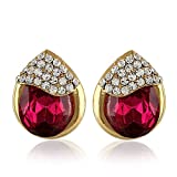Rich Lady Pink Austrian Stone Studs Part...