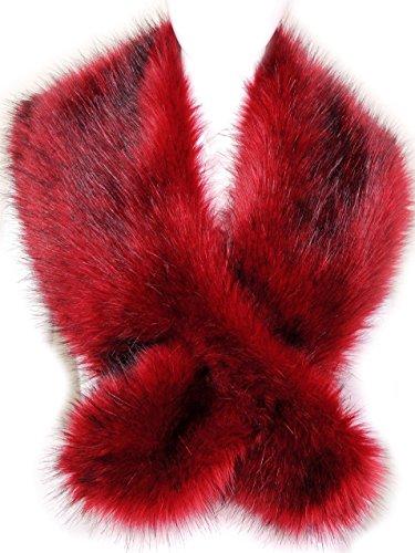 Futrzane Etola Echarpe Fausse Fourrure Châle Col d hiver (Rouge) 6aebd970ab2