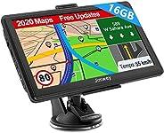 GPS Navi Navigation für Auto LKW Navigationsgerät PKW Navigationssystem 7 Zoll 16GB Lebenslang Kostenloses Kar