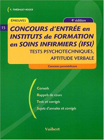 Concours d'entrée en IFSI : Tests psychotechniques d'aptitude verbale
