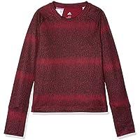 Adidas Yg TR Warm LS Camiseta, niñas, (rubmis/Negro), 170