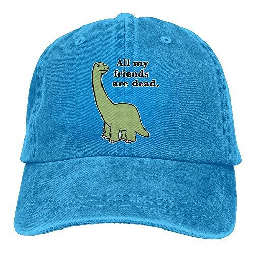 Xdevrbk Männer und Frauen Alle Meine Freunde sind tot Dinosaurier Vintage Jeans Baseballmütze Multicolor47