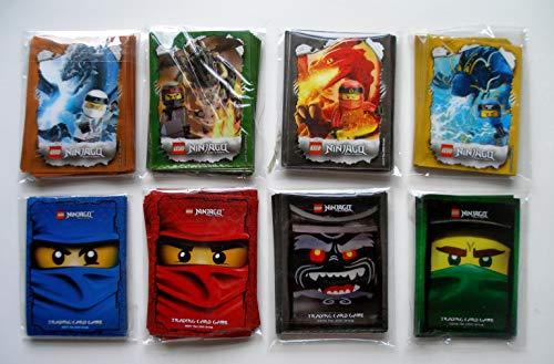 Lego Ninjago Trading Card Game - 240 Hüllen - Kartenhüllen mit Motiv Zane Cole Jay Kai Lloyd Garmadon Rot Blau Grün Schwarz Sleeves für Karten Neu 8 Set a 30 Hüllen