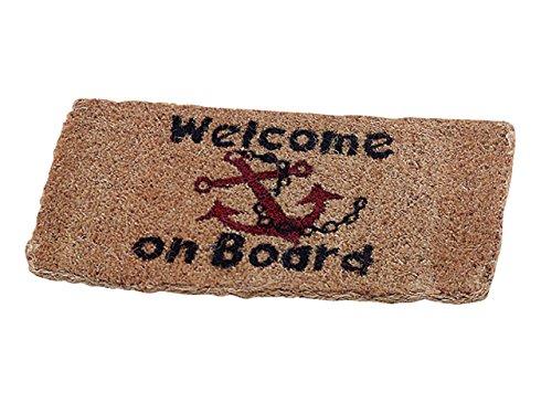 Coir Mat 25 x 50 CM Welcome on Board Abstreicher Test