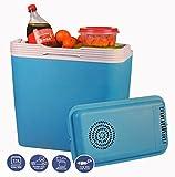 Frigo Portatile 12V Box Termico 22 LITRI Blu Per Auto Viaggi Mare Campeggio