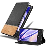Cadorabo Custodia Libro per Nokia Lumia 920 in Nero Marrone - con Vani di Carte, Funzione Stand e Chiusura Magnetica - Portafoglio Cover Case Wallet Book Etui Protezione