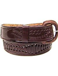 Modestone Embossed Snake Braid Leather Belt 1.5 Width 1//8 Thick Black