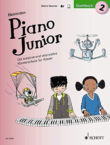 Piano Junior: Duettbuch 2: Die kreative und interaktive Klavierschule für Kinder. Band 2. Klavier 4-händig. Ausgabe mit verschiedenen Online-Materialien. (Piano Junior - deutsche Ausgabe)