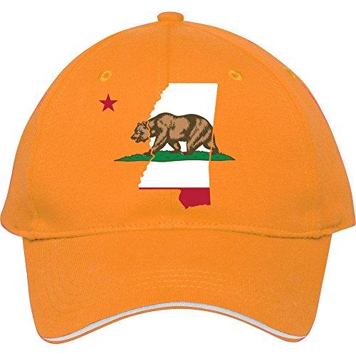 Mississippi California Funny Pride Flagge Apparel Baumwolle genesim Billig Snapback Kappen verstellbar hatmale/weiblich Classic Baseball Mützen, Gelb