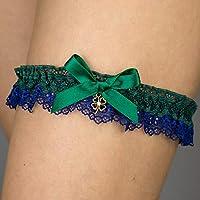 Giarrettiera di pizzo nozze matrimonio sposa biancheria intima regali de nozze verde blu trifoglio irlandese