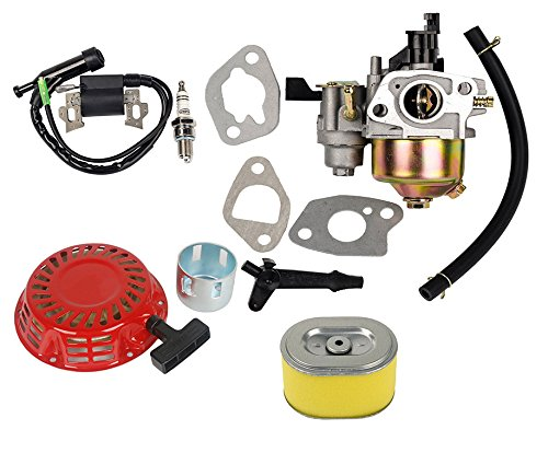 OxoxO Carburetor With 17210-ZE1-822 Air Filter Ignition Coil Recoil Starter for Honda Gx140 Gx160 Gx200 5.5HP 6.5HP Engine (5.5 Hp Engine)