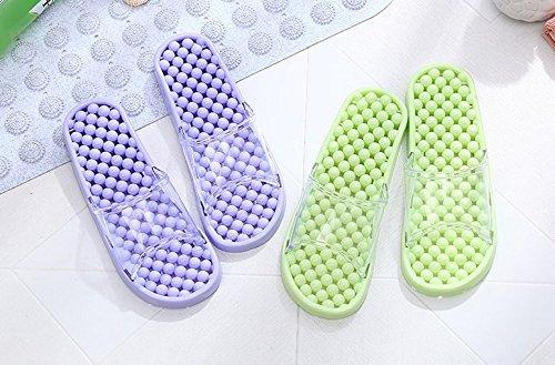 Pantoufles De Bain Tellw Pour Les Hommes Et Les Femmes Intérieur Maison Points Pedicure Chaussures Couples Non-briefs Pantoufles D'été Frais Salle De Bain Dark Purple