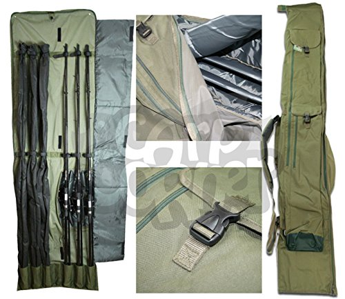 Carp-Fishing-Very-Padded-Rod-Holdall-Bag-For-3-Made-Up-3-Unmade-Rods-Reels-Made-By-NGT