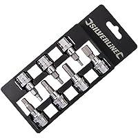 Silverline 225127 Set di punte esagonali da 3/8, 7 pezzi