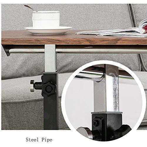 SED Multifunktions Kleine Tabelle Haushalt Panel Notebook Sofa Seite Beweglich 8 Ebenen Anhebbare Hause Kleine Schreibtisch Schlafzimmer Einfache Studie Tisch,Gelbe Eiche Farbe -