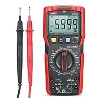 جهاز قياس متعدد رقمي بدقة عالية يونيت UT89XD بمقياس عالمي صغير 6000 عدد شاشة LCD حقيقية RMS قياس تيار متردد/تيار مستمر اختبار ديود التردد الحالية