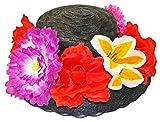 Blumen-Hut schwarz