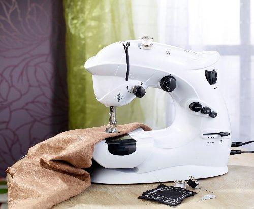 Sichler Haushaltsgeräte Nähmaschine: Kompaktnähmaschine mit 7 Nähprogrammen (Nähmaschiene)