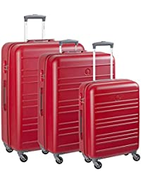 Set Trolley Grande, Medio e Piccolo Spinner 4 Ruote | Delsey Carlit | 003445986-Rosso