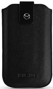 Iphoria Collection Busy Black Sleeve für Apple iPhone 4/5 silber