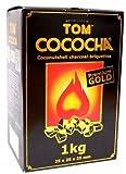 Shisha Naturkohle-Set: Elephant Kohleanzünder + Kohlegitter & Tom Cococha Gold -