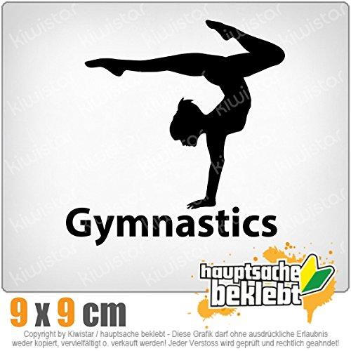 Gymnastics 9 x 11 cm IN 15 FARBEN - Neon + Chrom! Sticker Aufkleber