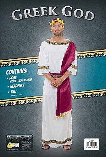 Imagen de bristol novelty ac364disfraz de dios griego, pecho tamaño 42–44 inch alternativa