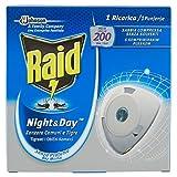 Raid Night & Day Insetticida Elettrico a Sabbia Compressa - 1 Confezione - 1 Ricarica