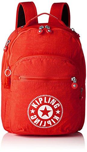 Kipling CLAS SEOUL Mochila escolar, 45 cm, 25 litros, Rojo Lively Red