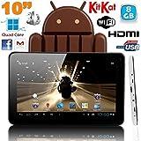 Tablette tactile 10 pouces Android 4.4 KitKat Quad Core 8 Go Blanc