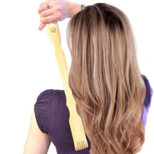 Bambus Holz Rückenkratzer und Körper Massagegerät – Geschenk für Sie und Ihn – perfekte Massage am Rücken, Nacken, Beine oder Fuß