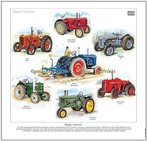 Classique Tracteurs Fine Art Print–-- prêt à