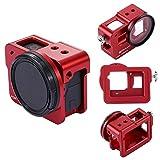 puluz® GoPro Hero5Gehäuse CNC Aluminium Legierung Schutz Käfig mit Versicherung Gestell & 52mm UV-Objektiv-Filter