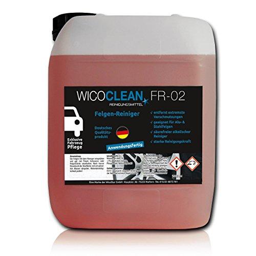 10 Litres wicoClean fR - 02–produit nettoyant pour jantes-produit de nettoyage pour jantes auto nettoyant professionnel d'entretien prêt à l'emploi