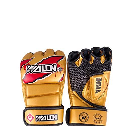 LINDANIG 5 Guantes de Boxeo de Color punzonado con Alta transpirabilidad difícil de Deslizar cojín...