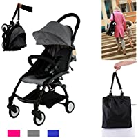 Flykids Travel Easy Lightweight Pram Buggy Travel Pushchair Stroller Carry Bag eith Rain Cover Recliner Rainer Cover Fits in Small CAR Boots Peugeot 107 & Fiat 500C