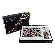 Mère de perle UME FL + d42ower & Design Papillon Porte-clés Support Business crédit Nom Porte Carte d'identité Slim Argent cas de