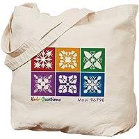 Cafepress–Hawaiian Quilt–Borsa di tela naturale, tessuto in