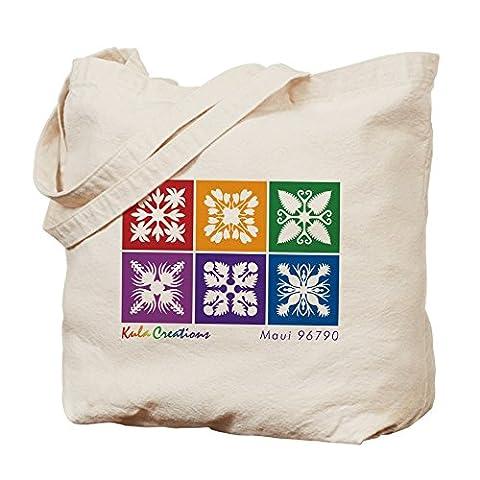 CafePress–Hawaiian Quilt Naturel–Sac en toile, tissu, Sac de courses