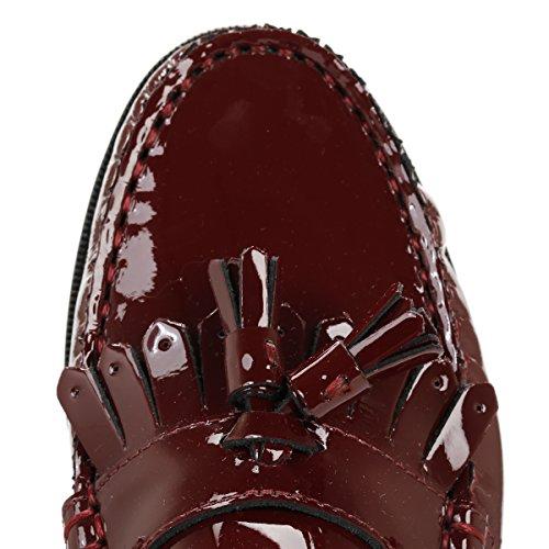 Donna Tassel Borgogna Borgogna Cuoio Tower Patent Loafers OSzBnq
