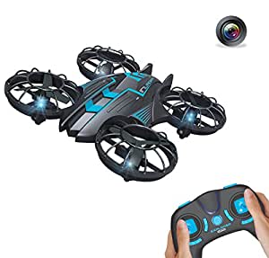 GoolRC 515V 0.3MP Camera Drone Hovering Drone UFO 2.4G 4CH 6-Axis Remote Control Quadcopter with Altitude Hold Headless Mode Photo/Video Taking Quadcopter(Blue)