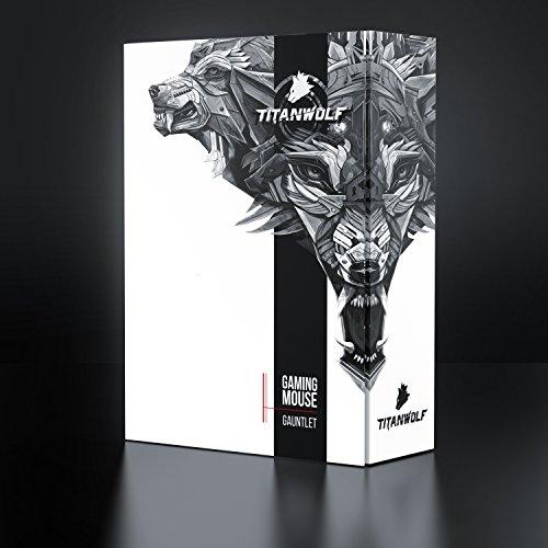 Ansicht vergrößern: Titanwolf - 16400 dpi USB Laser Gaming Mouse | 18 Tasten | 16400 dpi Abtastrate | High Precision | konfigurierbare LED-Farb-Beleuchtung | Avago Sensor Technology | MMO Gaming | inkl. software (programmierbare Tasten) | bis zu 30G Beschleunigung | ergonomisches Design