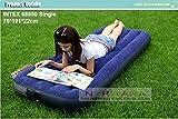 NYRWANA Inflatable Single Air Bed/Mattress (Blue)
