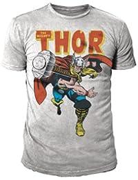 Marvel Comic - Thor Retro Herren T-Shirt The Mighty (Grau) (S-XL)