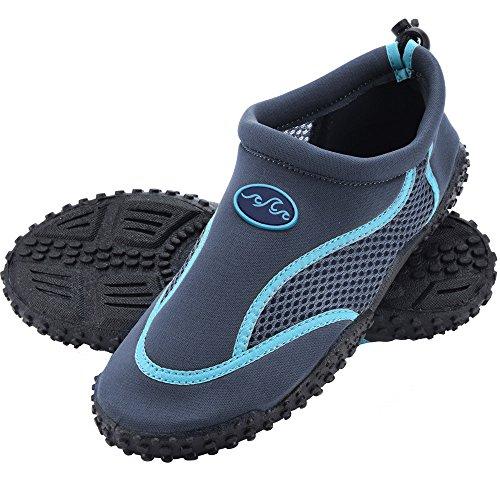 Deuba Wasserschuhe Badeschuhe Surfschuhe Aquaschuhe Strandschuhe Herren Größe 42 grau/blau