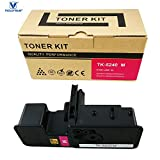 VICTORSTAR @ Cartucho de Tóner Compatible TK5240 / TK-5240 para Impresoras Láser Kyocera ECOSYS P5026cdn / P5026cdw / M5526cdn / M5526cdw (Magenta)