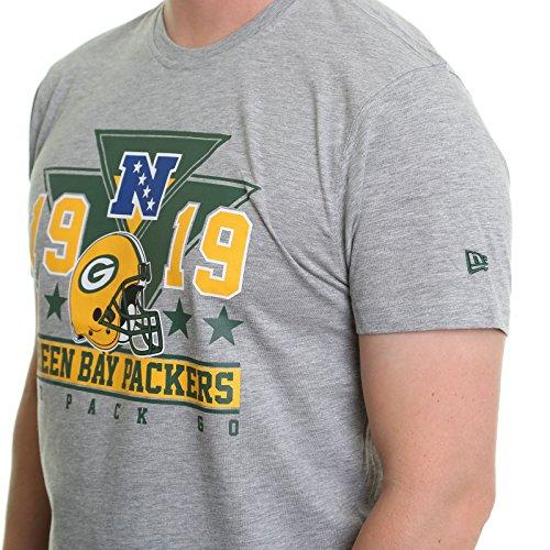 New Era Herren T-Shirt Nfl Triangle Tee Green Bay Packers Gray