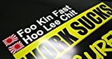 Foo Kin Fast/ Hoo Lee Chit - JDM Rennsport Fahrer Sticker Bomb Aufkleber - DUB (außenklebend, schwarz)